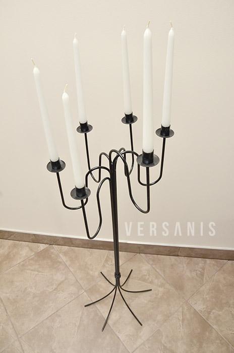 dekorativer kerzenst nder aus metall kerzenhalter kerzenst nder hoch modell 24a versanis. Black Bedroom Furniture Sets. Home Design Ideas