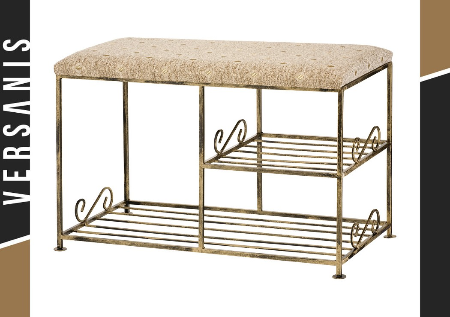 Sitzbank zweifache Schuhablage Metall