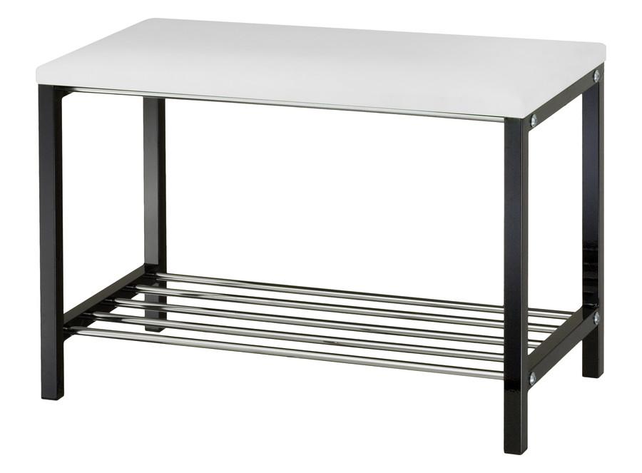 Moderne Sitzbank mit Schuhablage 70 cm breit Metall