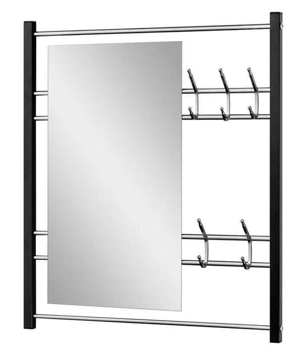 wandgarderobe mit spiegel garderobenpaneel mit 5 haken online kaufen versanis. Black Bedroom Furniture Sets. Home Design Ideas